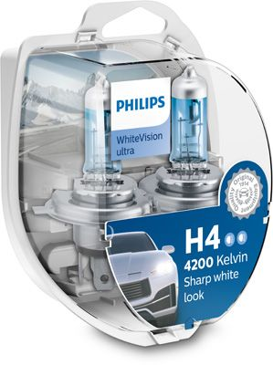 PHILIPS WHITE VISION ULTRA H4 ΣΕΤ 12342WVUSM