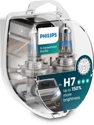 PHILIPS H7 X-treme Vision Pro150 12V 55W Έως 150% Περισσ.Φως 12972XVPS2