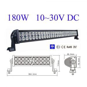 ΑΔΙΑΒΡΟΧΟΣ LED LIGHT BAR 180W 12 – 24 VDC 30° 60 COMBO E082008
