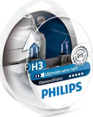 PHILIPS ΛΑΜΠΑ 12V H3 55W PK22s Diamond Vision SET 12336DVS2