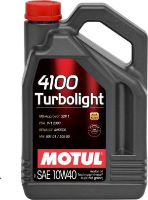 MOTUL 4100 TURBOLIGHT 10W40 4L (10W40) 410040-4L