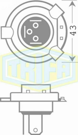 TRIFA  ΛΑΜΠΑ HS1 12V 35/35W PX43t MOTO 1610