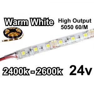 ΑΔΙΑΒΡΟΧΗ ΤΑΙΝΙΑ LED ΚΙΤΡΙΝΟ 24VDC 14.4 W/m IP65 E082082