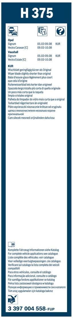 BOSCH ΥΑΛΟΚΑΘΑΡΙΣΤΗΡΑΣ (375) Rear 3397004558