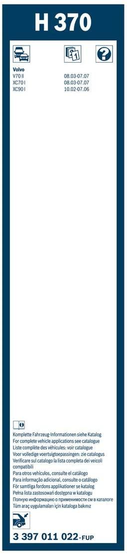 BOSCH ΥΑΛΟΚΑΘΑΡΙΣΤΗΡΑΣ (370) Rear 3397011022