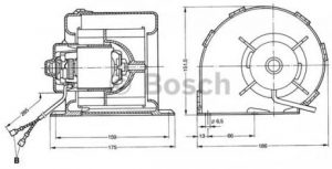 Bosch 0130063809 Κινητήρας ανεμιστήρα 24V 0130063809