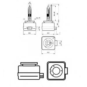 PHILIPS ΛΑΜΠΑ 85V D1R 35W P32d-3 XENON 85409VIC1