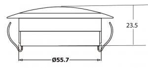 DASTERI ΜΠΛΑΦΟΝΙΕΡΑ LED ΚΟΚΚΙΝΑ 24V (1988) DS-SL-24.1806