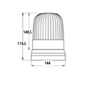 DASTERI ΦΑΡΟΣ ΠΕΡΙΣΤΡΟΦΙΚΟΣ ΜΑΓΝΗΤΙΚΟΣ 12V-24V (H3) ΚΙΤΡΙΝΟΣ (1130)430M/12.05