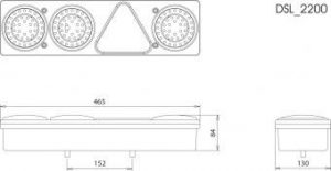 DASTERI ΦΑΝΟΣ ΟΠΙΣΘΙΟΣ LED 6 ΛΕΙΤΟΥΡΓΙΩΝ 24V ΑΡΙΣΤΕΡΟΣ (1322) DSL-2203SR06