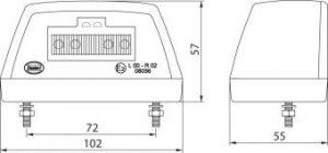 DASTERI ΦΑΝΟΣ ΠΙΝΑΚΙΔΑΣ LED ΜΑΥΡΟ ΚΑΛΥΜΑ 24V (1742) DSL-41A/24