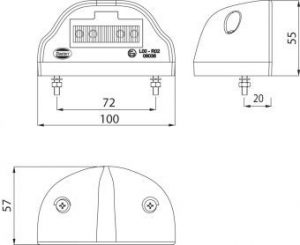 DASTERI ΦΑΝΟΣ ΠΙΝΑΚΙΔΑΣ LED ΜΑΥΡΟ ΚΑΛΥΜΑ 24V (1750) DSL-43A/24