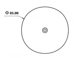 DASTERI ΑΝΤΑΝΑΚΛΑΣΤΙΚΟ ΣΤΡΟΓΓΥΛΟ 80mm ΛΕΥΚΟ (2035) P-030.07