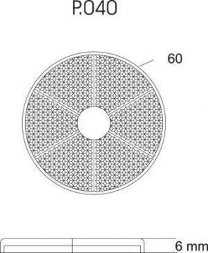 DASTERI ΑΝΤΑΝΑΚΛΑΣΤΙΚΟ ΣΤΡΟΓΓΥΛΟ 60mm ΚΙΤΡΙΝΟ (2030) P-040.05