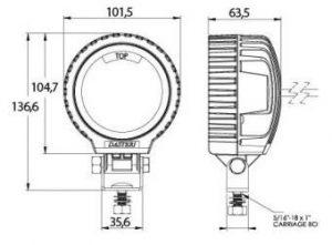 DASTERI ΦΑΝΟΣ ΕΡΓΑΣΙΑΣ LED 10-30V (1716) WRK-LED-100S