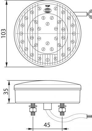 DASTERI ΦΑΝΟΣ ΟΠΙΣΘΙΟΣ LED 3 ΛΕΙΤΟΥΡΓΙΩΝ 12V (ΠΟΡΕΙΑΣ/STOP/ΦΛΑΣ) (1344) DSL-22/12
