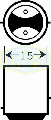 """TRIFA ΛΑΜΠΑ LED ΚΑΡ/ΚΙ 24V 120/20mA ΛΕΥΚΗ """"BAY15d S25-19LED"""" 02829"""