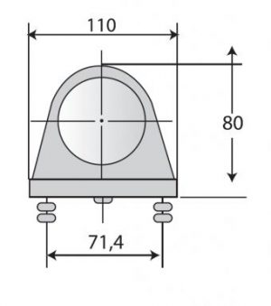 DASTERI ΠΛΑΣΤΙΚΟ ΜΕ 3 LED ΦΑΝΟΥ ΟΓΚΟΥ 2 ΛΕΙΤΟΥΡΓΙΩΝ ΚΟΚΚΙΝΟ (1780) DSL-P-615.05